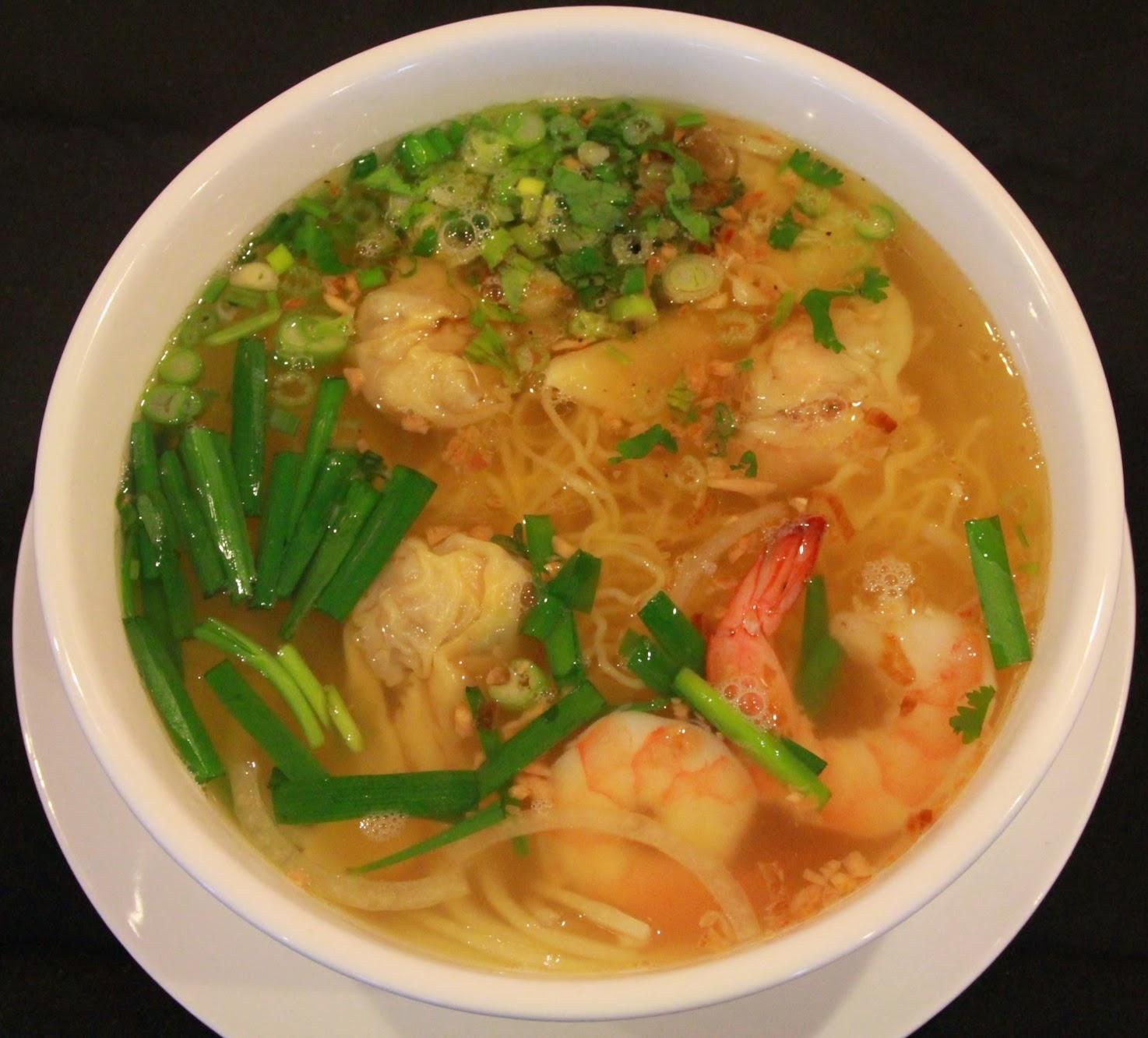 house menu noodle Noodle Egg Wonton Soup